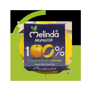 Mousse Melinda 100% frutta mela banana