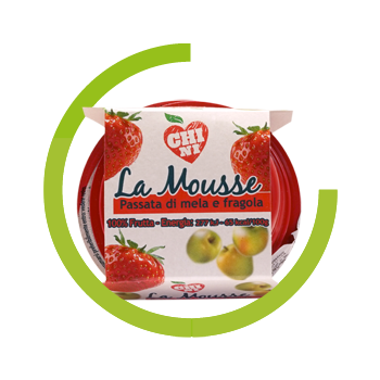 Chini puree apple and strawberry 100% natural fruit