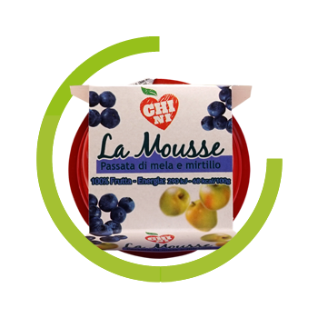 Mousse Chini 100% frutta mela mirtillo