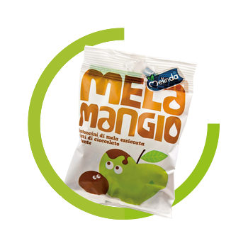 Melamangio dried apples and dark chocolate