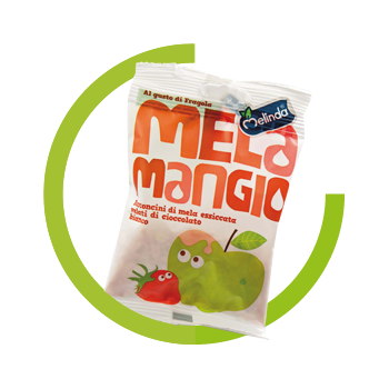 Melamangio Chini apple strawberry white chocolate Dried fruit