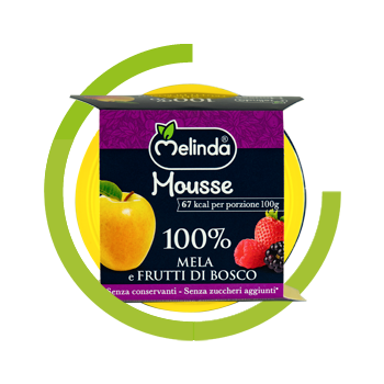 Mousse Melinda 100% Mela Frutti di Bosco